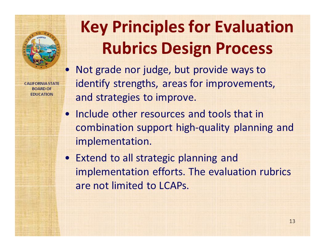 Key Principles for Evaluation Rubrics Design Process