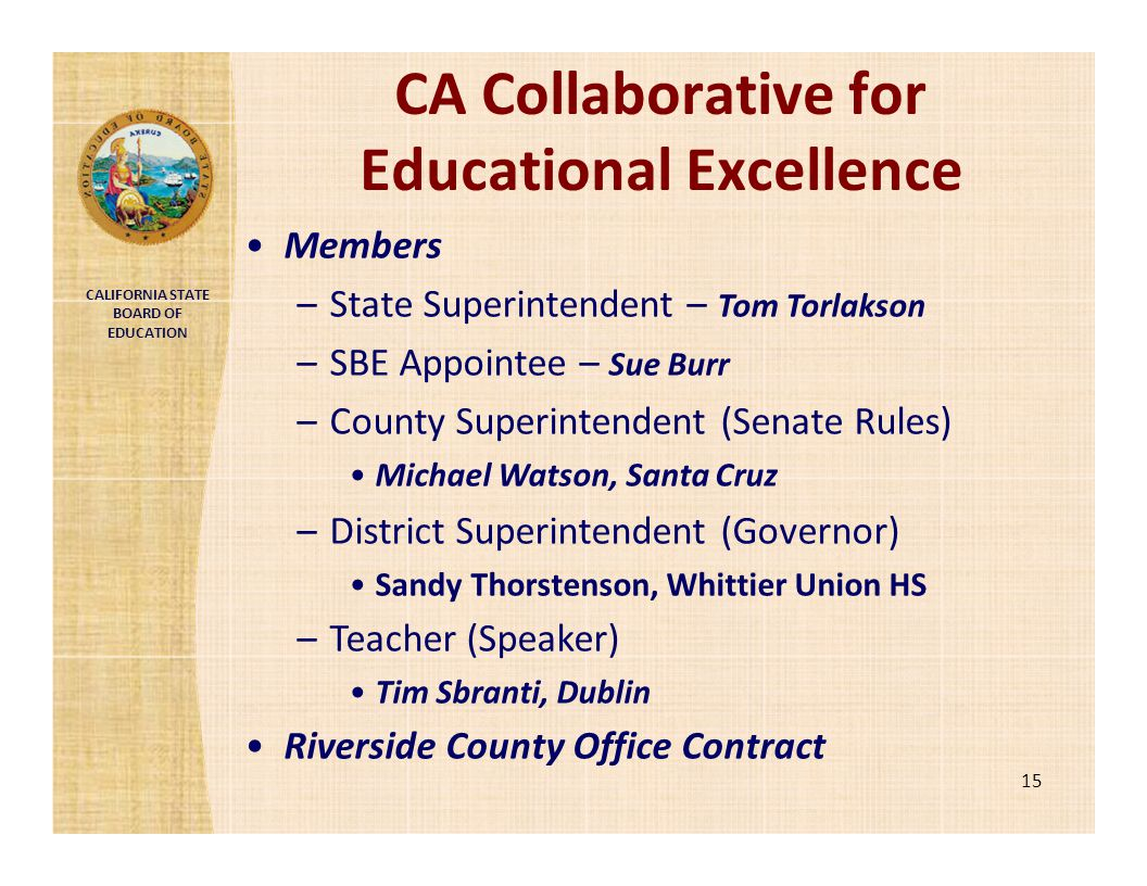 CA Collaborative for Educational Excellence