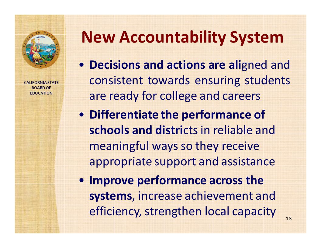 New Accountability System