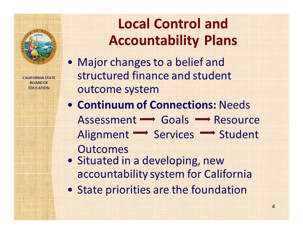 Local Control and Accountability Plans