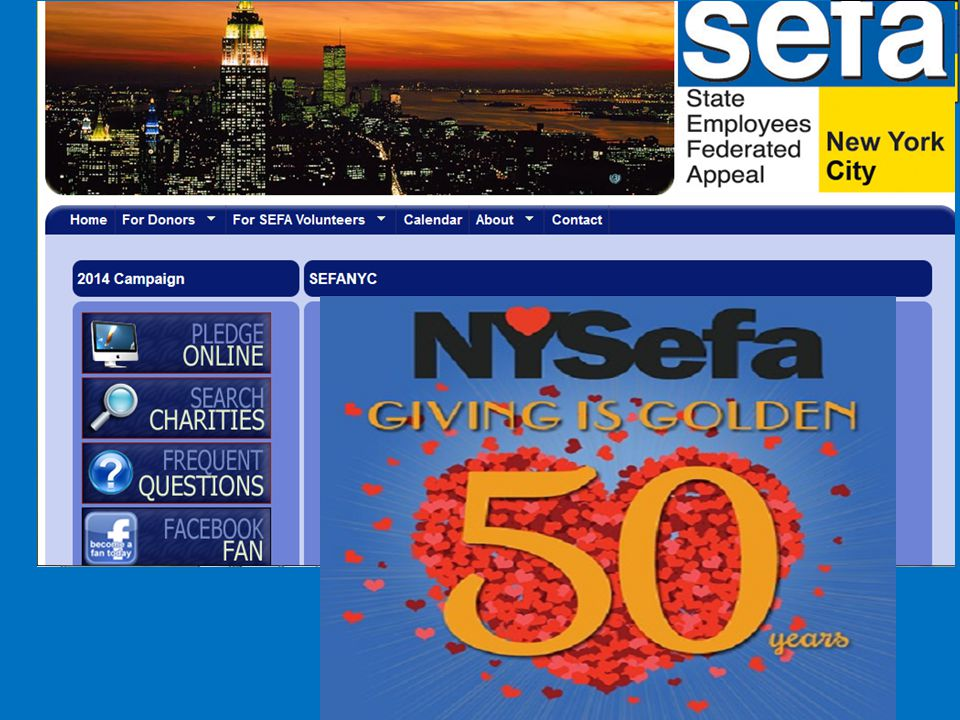 SEFANYC Website - www.sefanyc.org