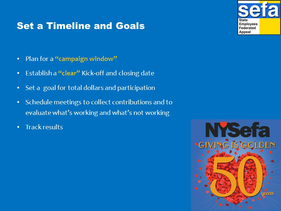 Set a Timeline and Goals