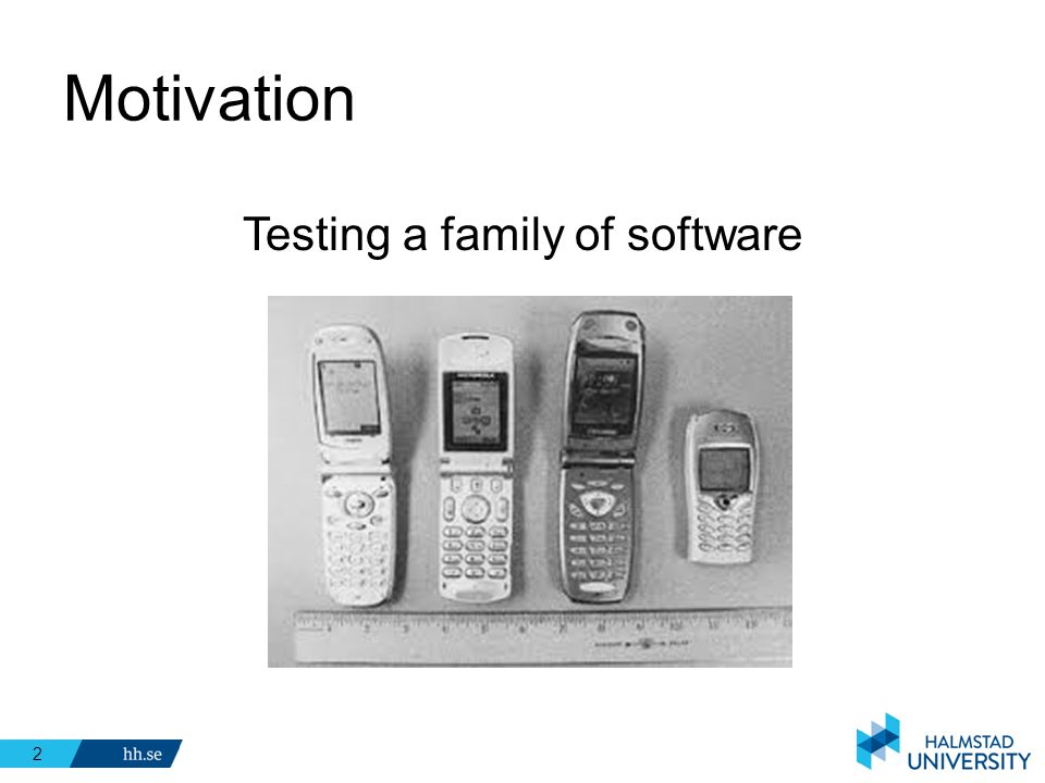 Testing a family of software