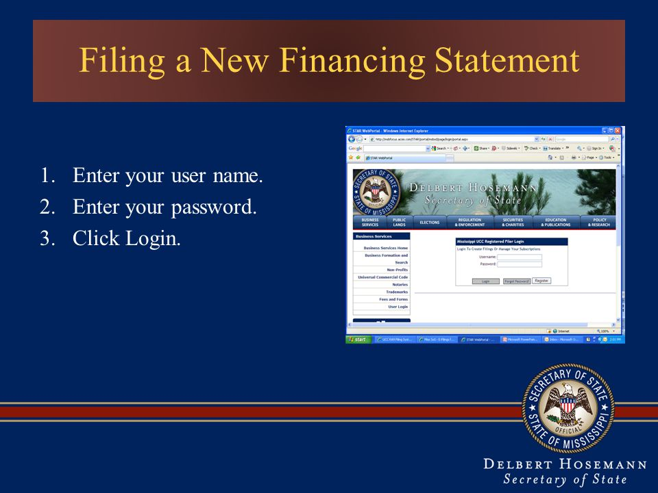 Filing a New Financing Statement