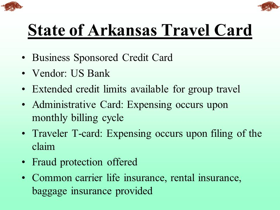 State of Arkansas Travel Card