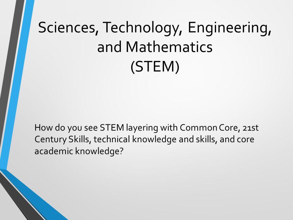 Sciences, Technology, Engineering, and Mathematics (STEM)