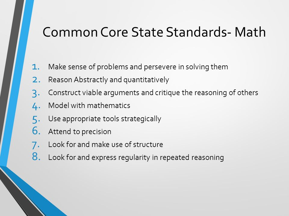 Common Core State Standards- Math