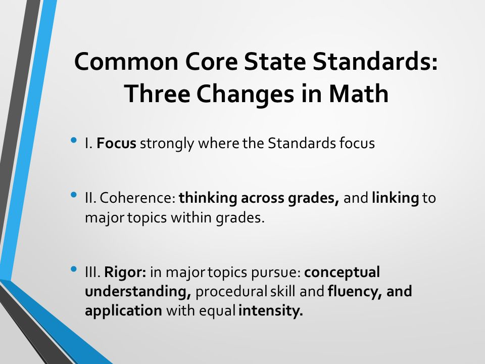 Common Core State Standards: Three Changes in Math