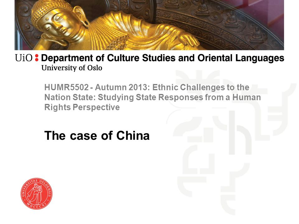 HUMR5502 - Autumn 2013: Ethnic Challenges to the Nation State: Studying State Responses from a Human Rights Perspective