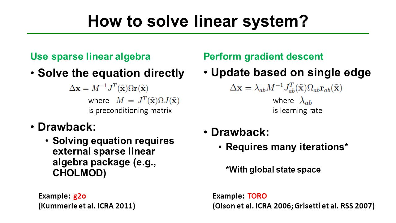 How to solve linear system