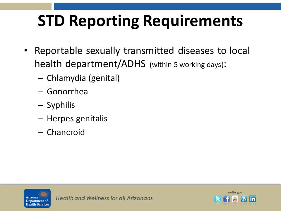 STD Reporting Requirements