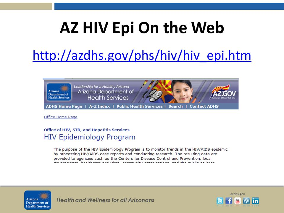 AZ HIV Epi On the Web http://azdhs.gov/phs/hiv/hiv_epi.htm
