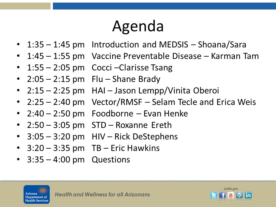Agenda 1:35 – 1:45 pm Introduction and MEDSIS – Shoana/Sara