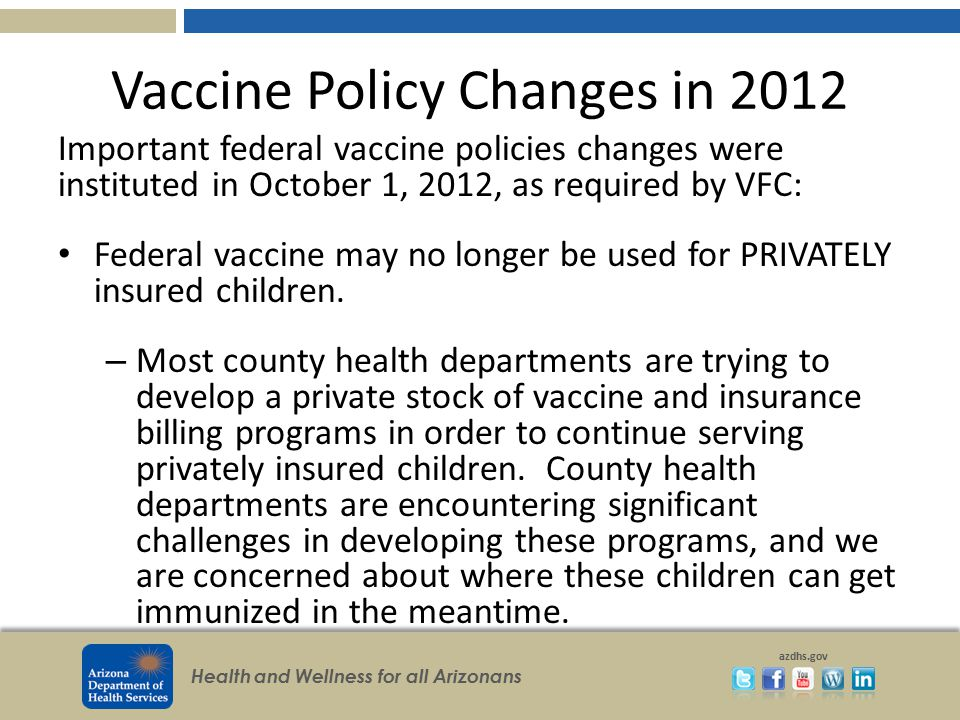 Vaccine Policy Changes in 2012