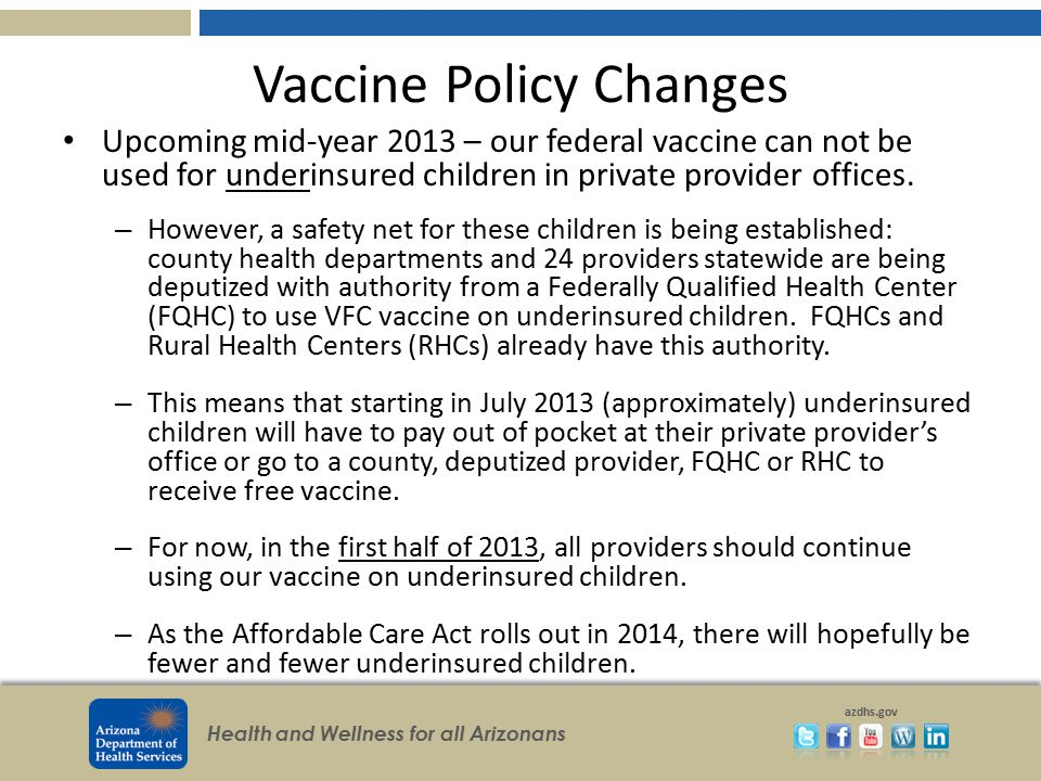 Vaccine Policy Changes