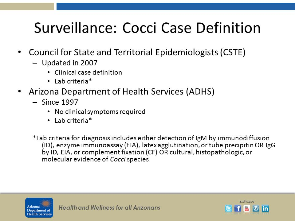 Surveillance: Cocci Case Definition