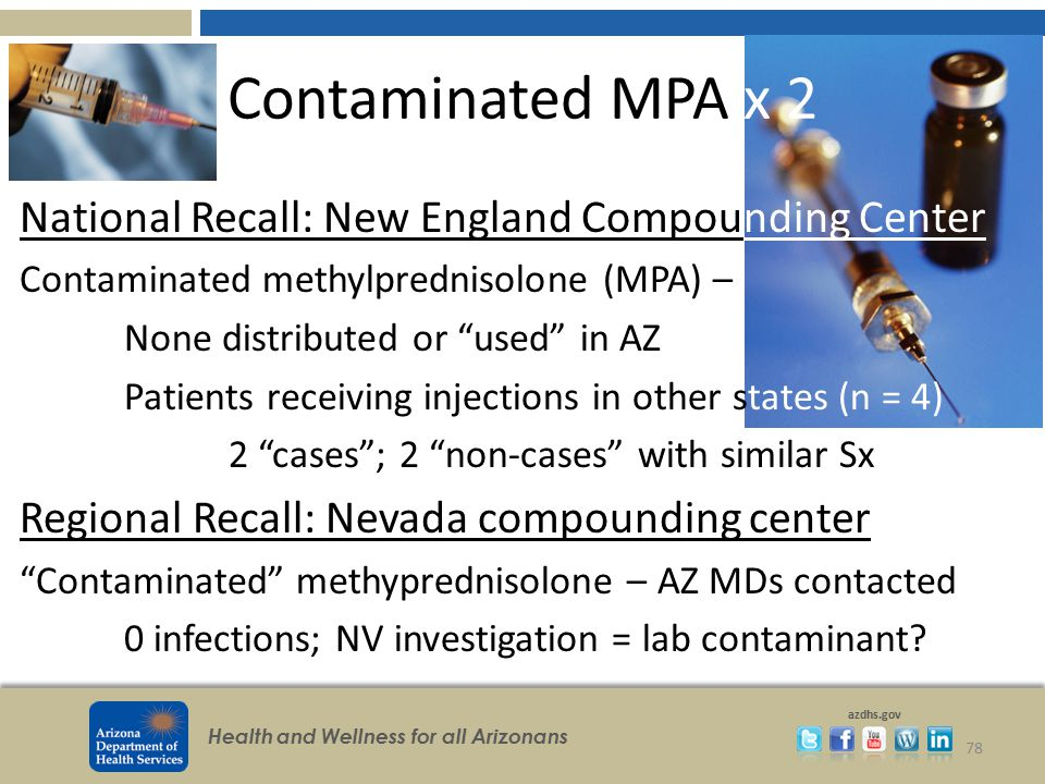 Contaminated MPA x 2 National Recall: New England Compounding Center