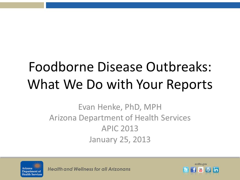Foodborne Disease Outbreaks: What We Do with Your Reports
