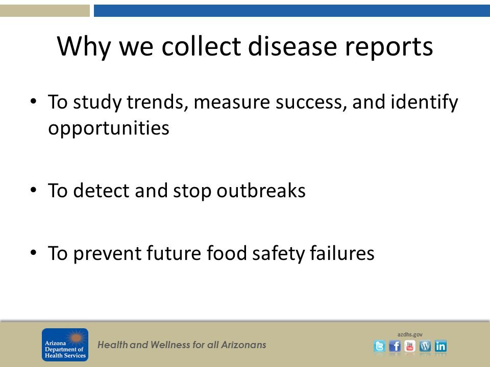 Why we collect disease reports