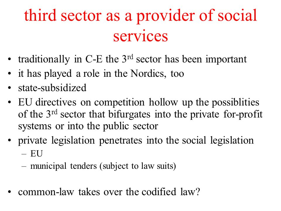 third sector as a provider of social services