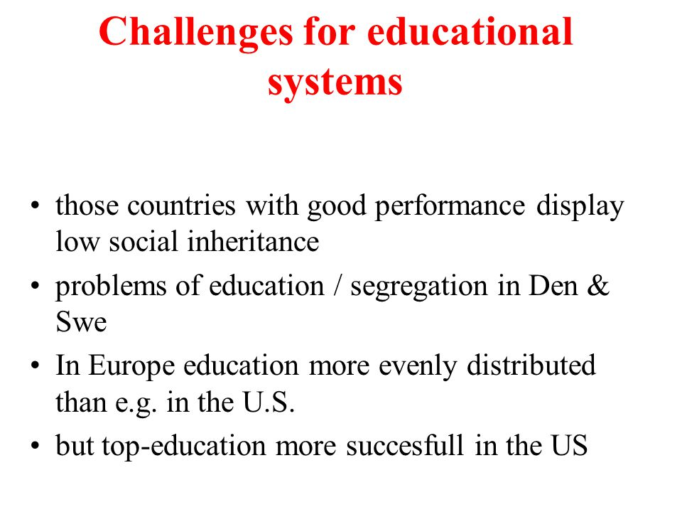 Challenges for educational systems