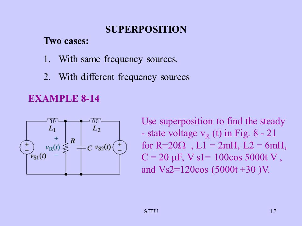 With same frequency sources. With different frequency sources