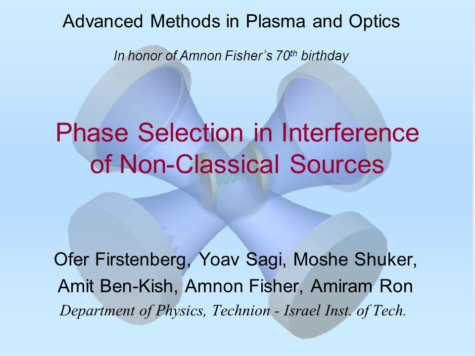 Phase Selection in Interference of Non-Classical Sources