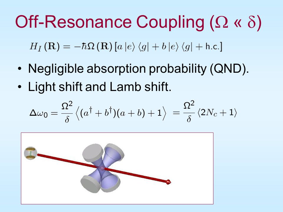 Off-Resonance Coupling ( « )