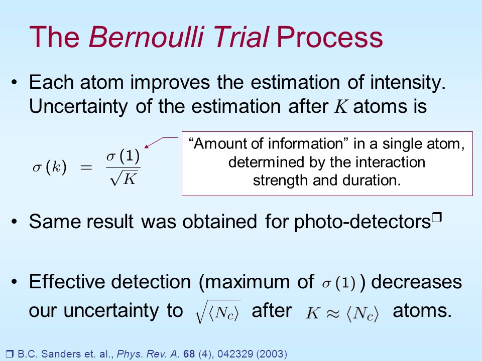 The Bernoulli Trial Process