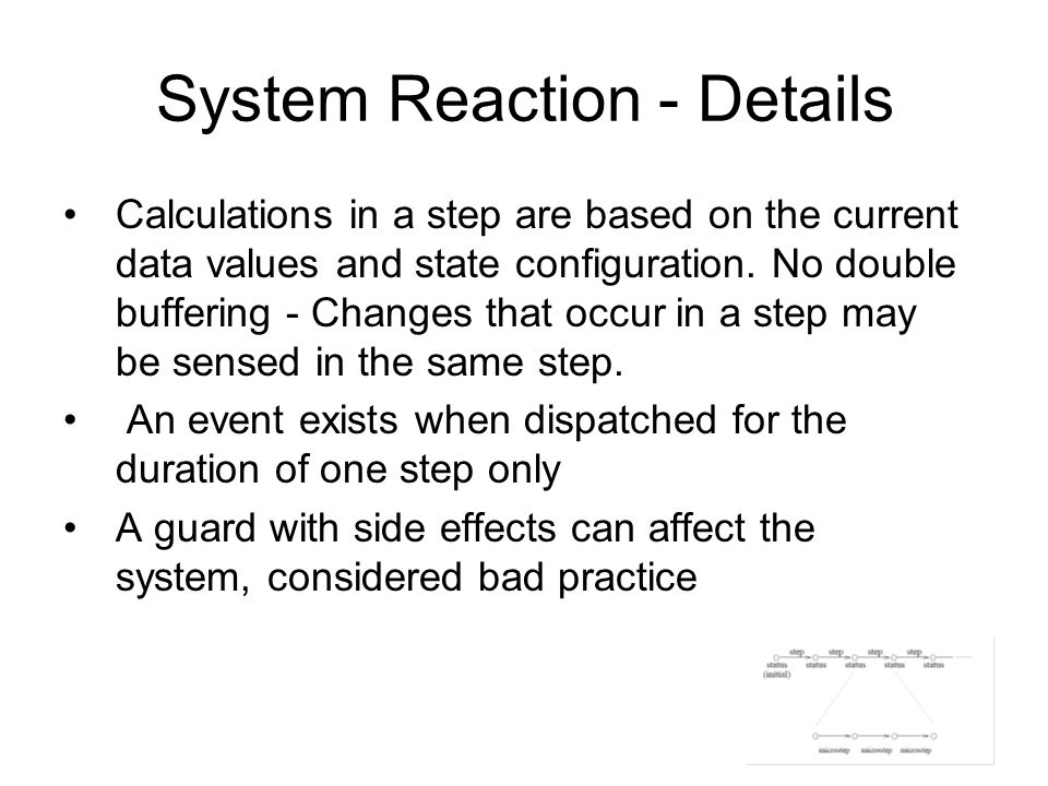 System Reaction - Details