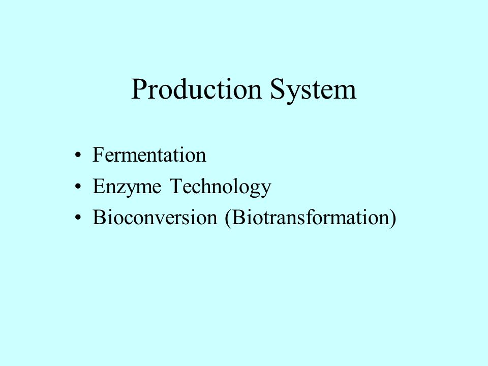 Fermentation Enzyme Technology Bioconversion (Biotransformation)