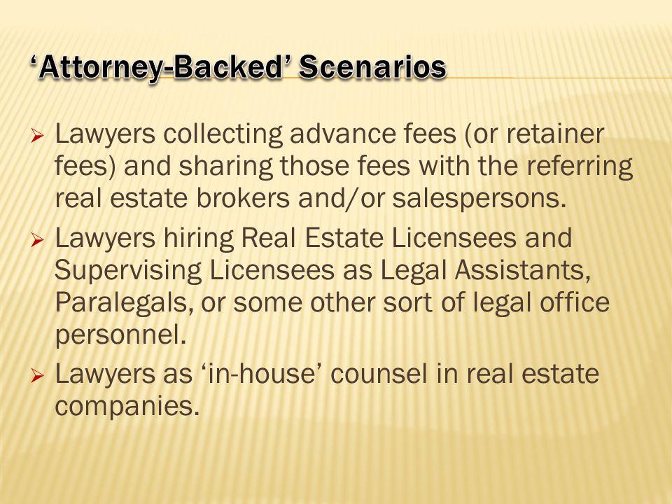 'Attorney-Backed' Scenarios