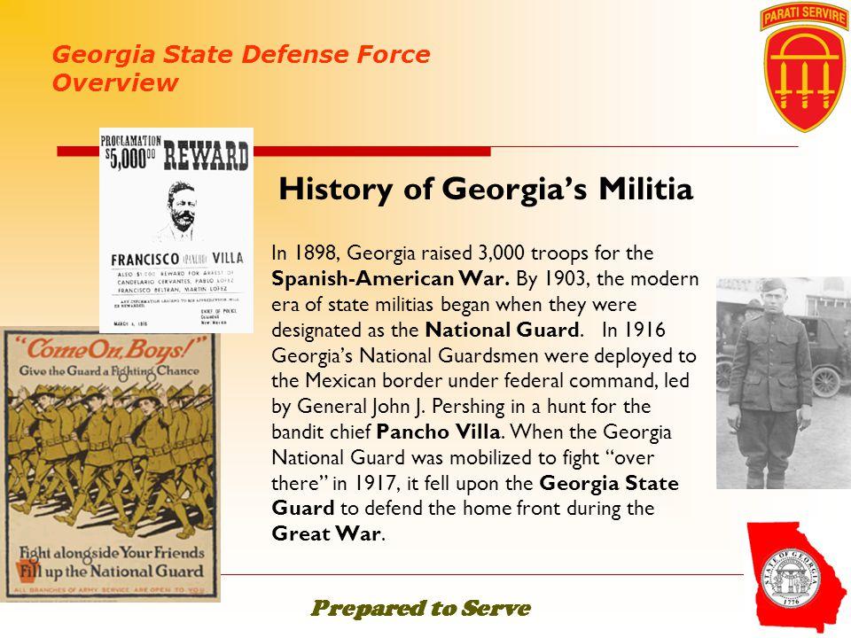 History of Georgia's Militia