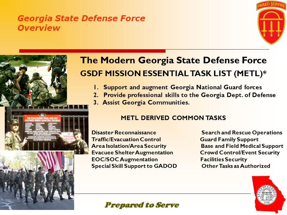 The Modern Georgia State Defense Force