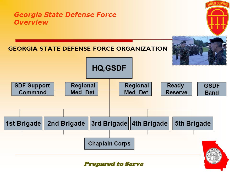 GEORGIA STATE DEFENSE FORCE ORGANIZATION