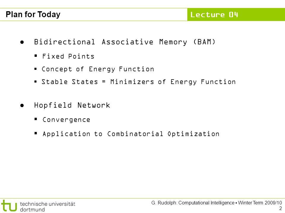 Bidirectional Associative Memory (BAM) Fixed Points