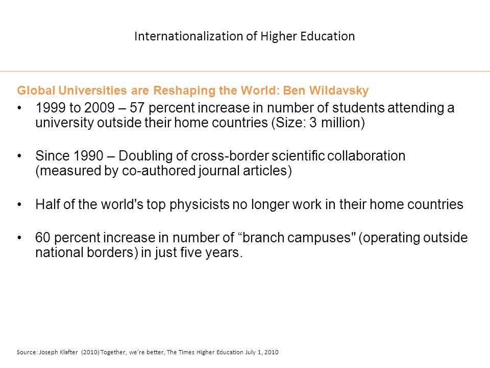 Internationalization of Higher Education