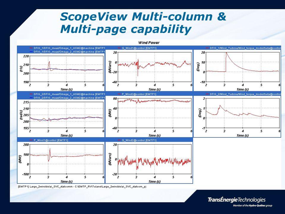 ScopeView Multi-column & Multi-page capability