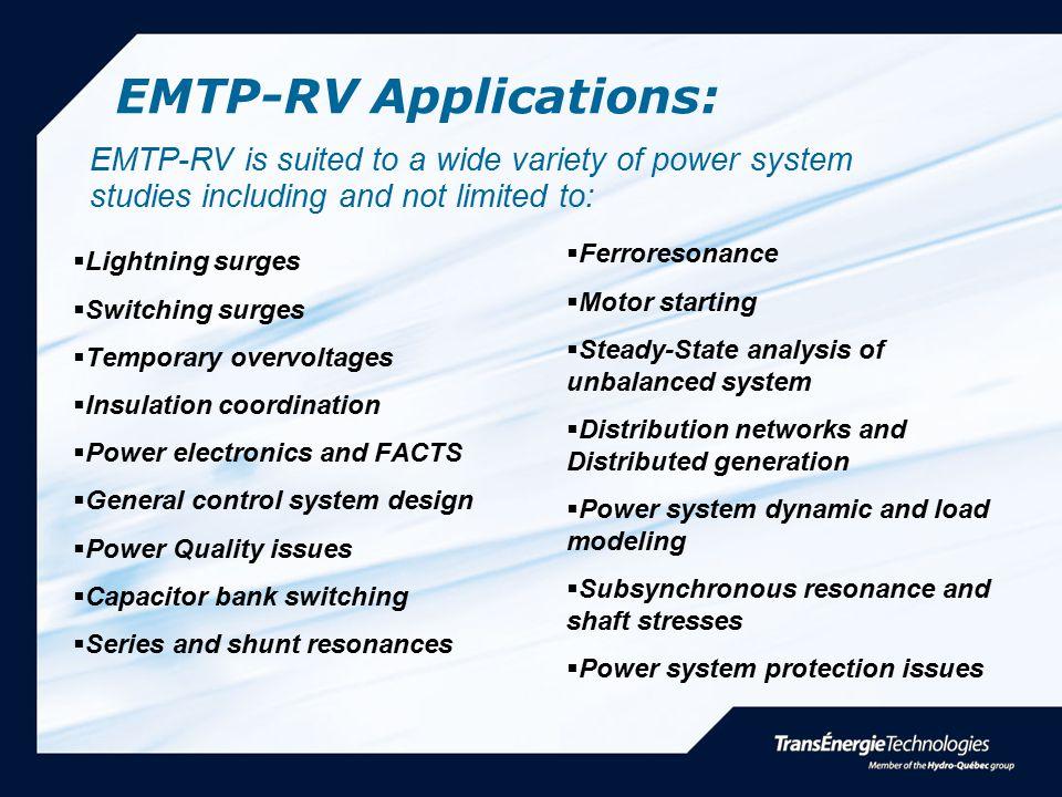 EMTP-RV Applications:
