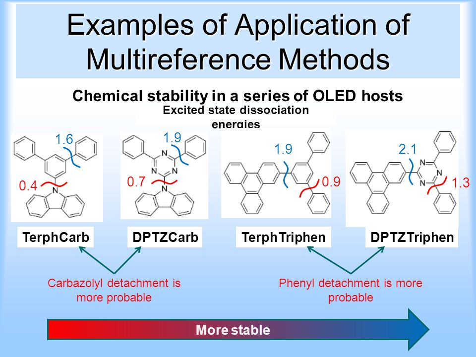 Examples of Application of Multireference Methods