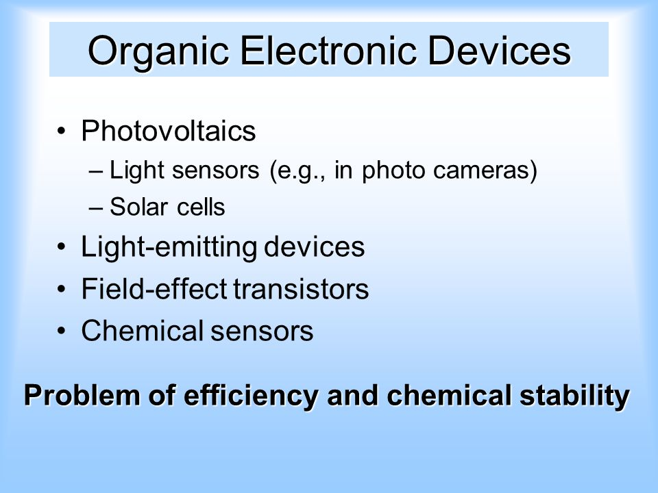Organic Electronic Devices