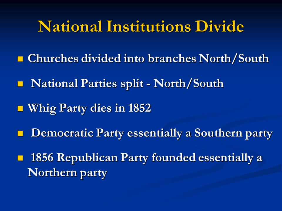 National Institutions Divide