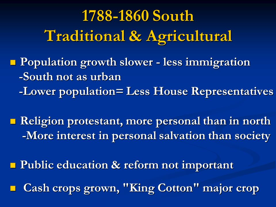 1788-1860 South Traditional & Agricultural