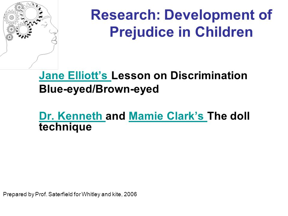 Research: Development of Prejudice in Children
