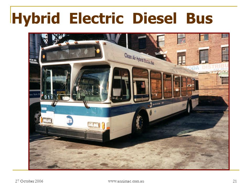 Hybrid Electric Diesel Bus