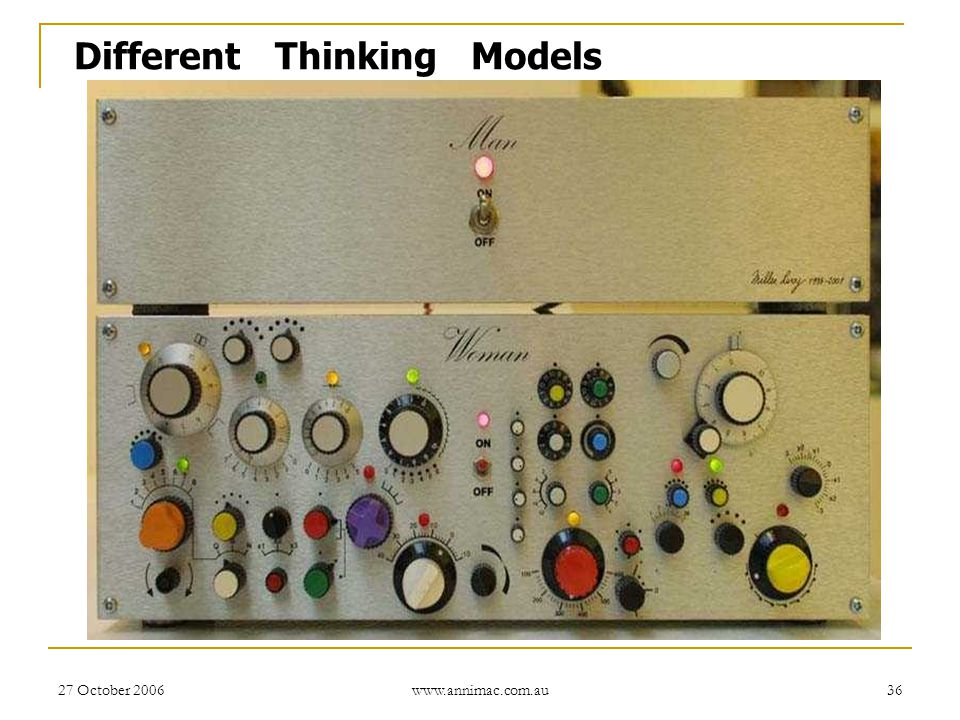 Different Thinking Models