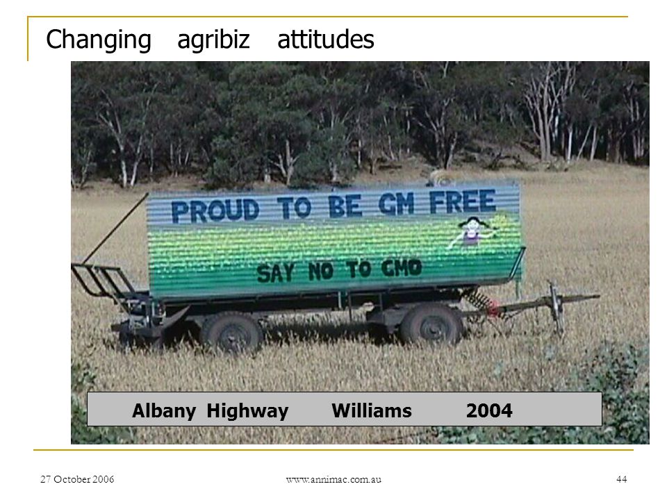 Changing agribiz attitudes