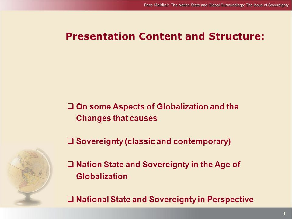 Presentation Content and Structure: