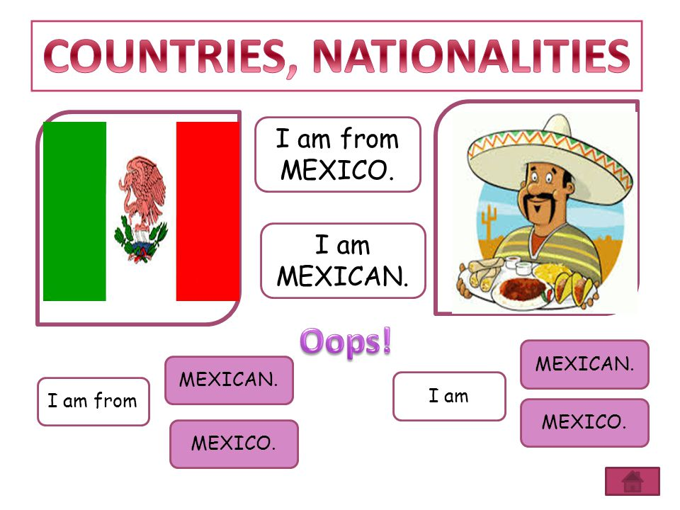 COUNTRIES, NATIONALITIES