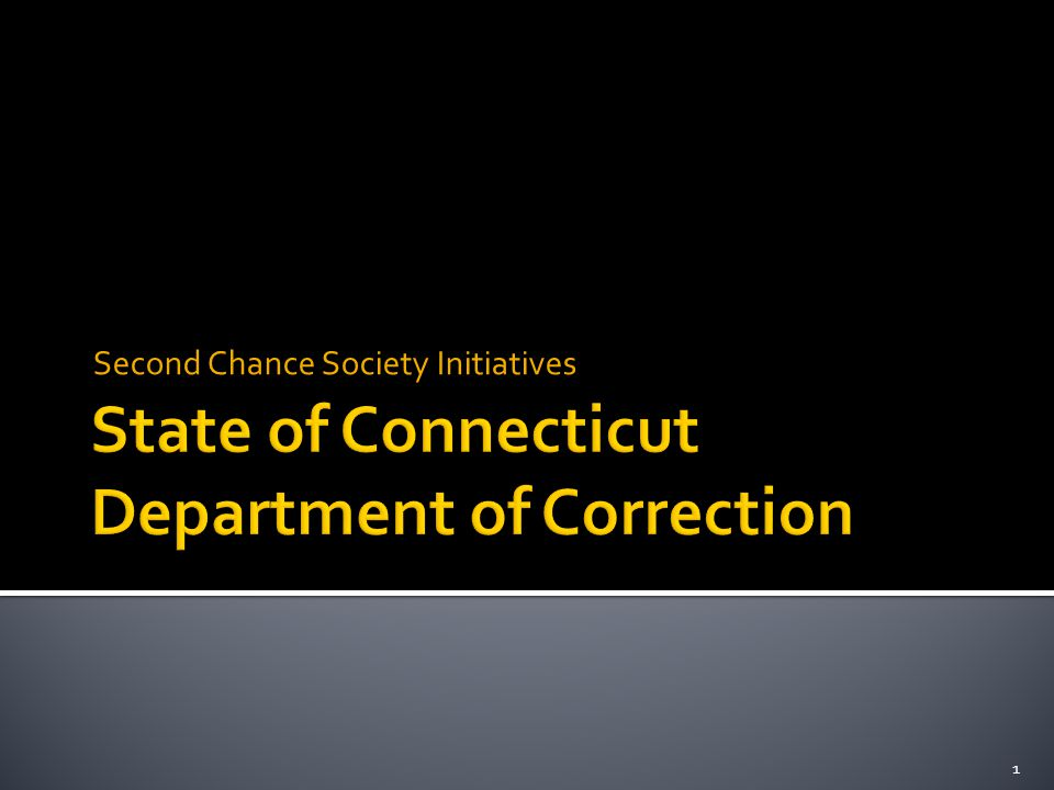 State of Connecticut Department of Correction